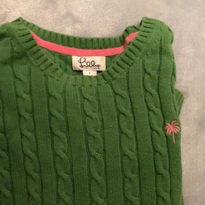 Lily Pulitzer green sweater